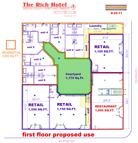 Interior Courtyard Floor Plans An Interior Courtyard