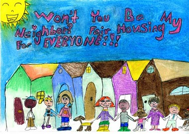 IHI resident Savana's third place winning poster from the Fair Housing Council of Oregon's annual Fair Housing Poster Contest